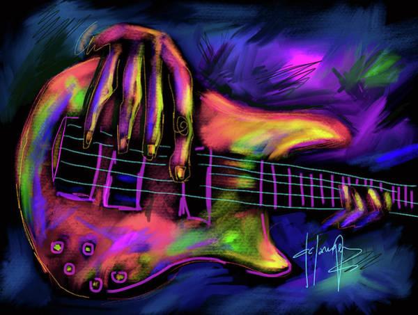Five String Bass Art Print