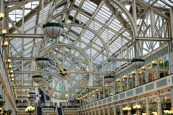Photograph - Five To Three - At St. Stephens Green Shopping Centre In Dublin by Les Palenik