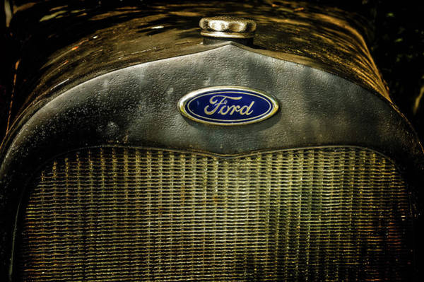 Photograph - Old Ford Automobile Grill by Louis Dallara