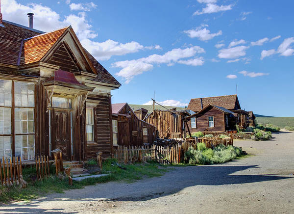 Bodie Ghost Town Wall Art - Photograph - Fixer Uppers by Ricky Barnard