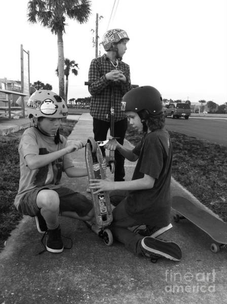 Photograph - Fixing A Skooter by WaLdEmAr BoRrErO