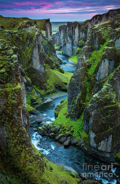 Wall Art - Photograph - Fjadrargljufur Canyon by Inge Johnsson