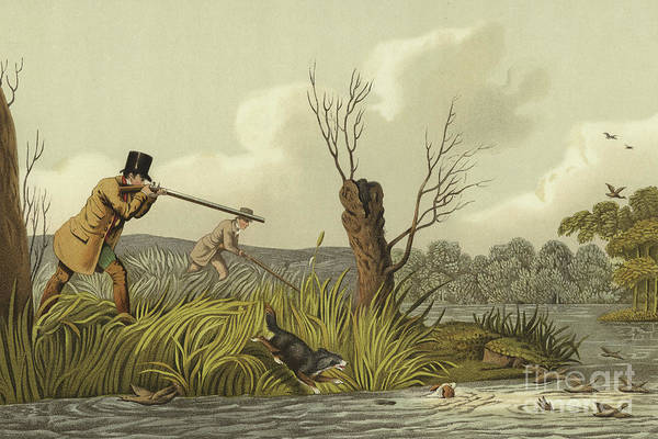 Stump Painting - Flacker Shooting by Henry Thomas Alken