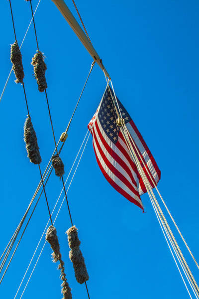 Photograph - Flag And Rigging by Brian MacLean