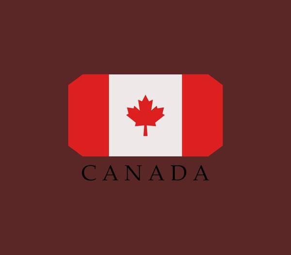 Red Digital Art - Flag Canada by Marco Livolsi