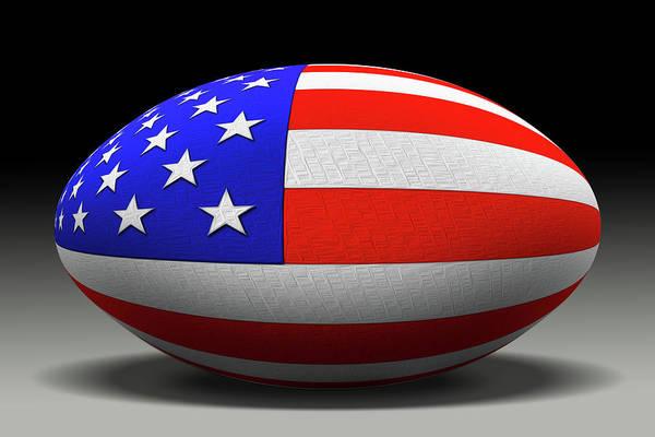 American Football Digital Art - Flag Football by Mike McGlothlen