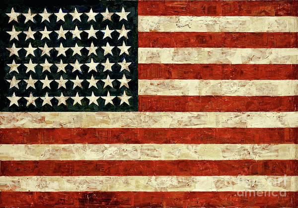 Wall Art - Painting - Flag, Jasper Johns, 1954 by Thomas Pollart
