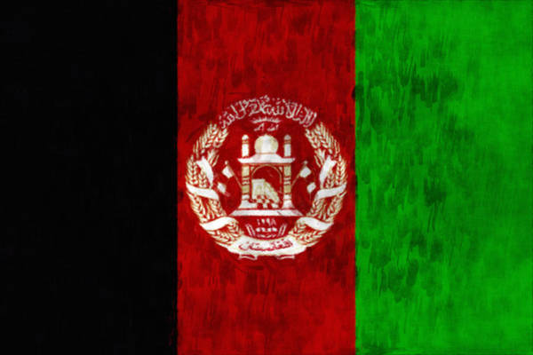 Wall Art - Digital Art - Flag Of Afghanistan by World Art Prints And Designs