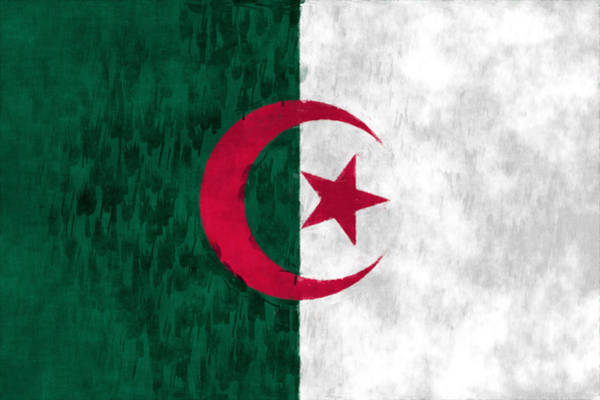 Wall Art - Digital Art - Flag Of Algeria by World Art Prints And Designs