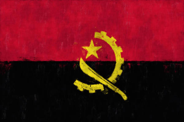 Wall Art - Digital Art - Flag Of Angola by World Art Prints And Designs