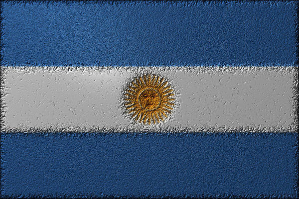 Digital Art - Flag Of Argentina by Jeff Iverson