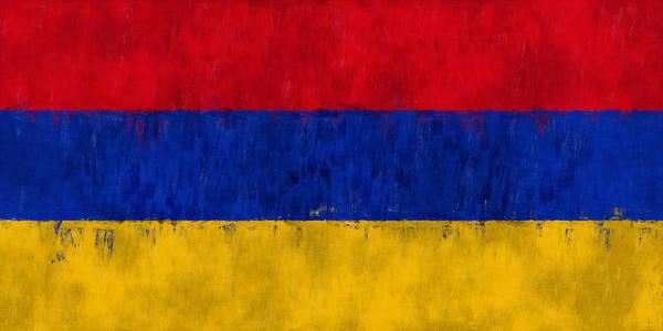 Wall Art - Digital Art - Flag Of Armenia by World Art Prints And Designs
