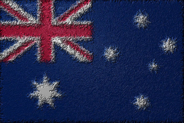 Digital Art - Flag Of Australia by Jeff Iverson