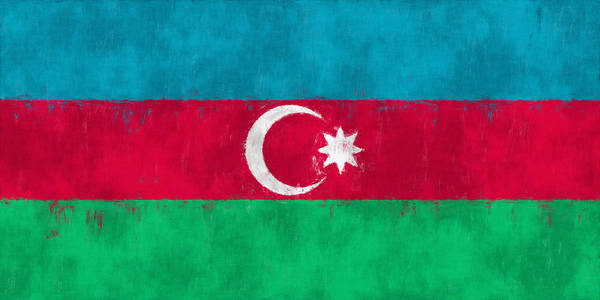 Wall Art - Digital Art - Flag Of Azerbaijan by World Art Prints And Designs