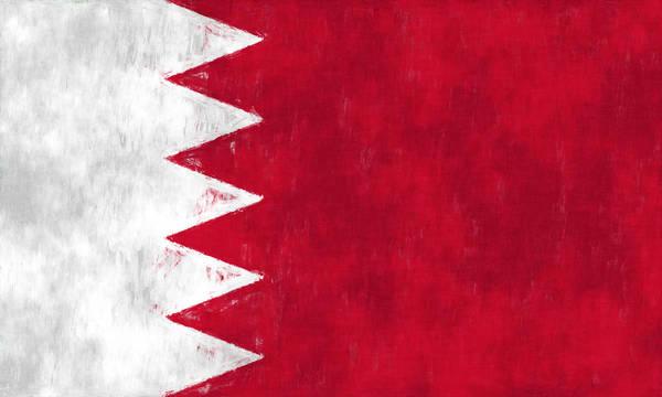 Wall Art - Digital Art - Flag Of Bahrain by World Art Prints And Designs