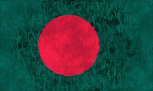 Wall Art - Digital Art - Flag Of Bangladesh by World Art Prints And Designs
