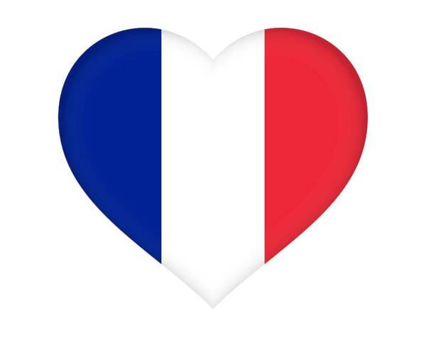 Francaise Digital Art - Flag Of France Heart by Roy Pedersen