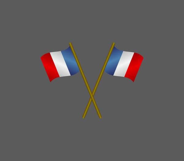 Illustration Digital Art - Flag Of France by Marco Livolsi