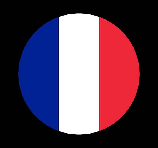 Francaise Digital Art - Flag Of France Round by Roy Pedersen