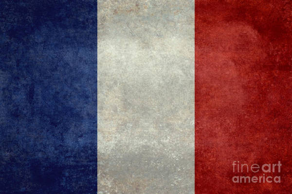Wall Art - Digital Art - Flag Of France Vintage Retro Style  by Bruce Stanfield