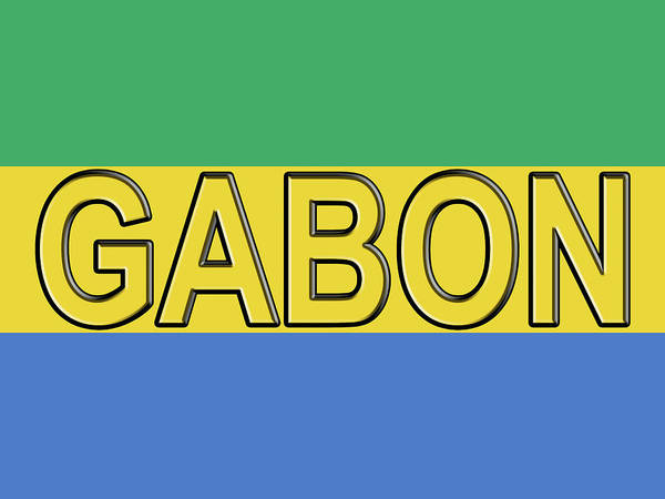 Gabonese Digital Art - Flag Of Gabon Word. by Roy Pedersen