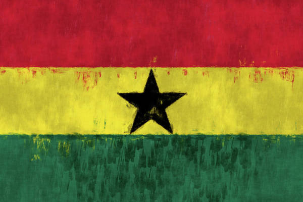 Wall Art - Digital Art - Flag Of Ghana by World Art Prints And Designs
