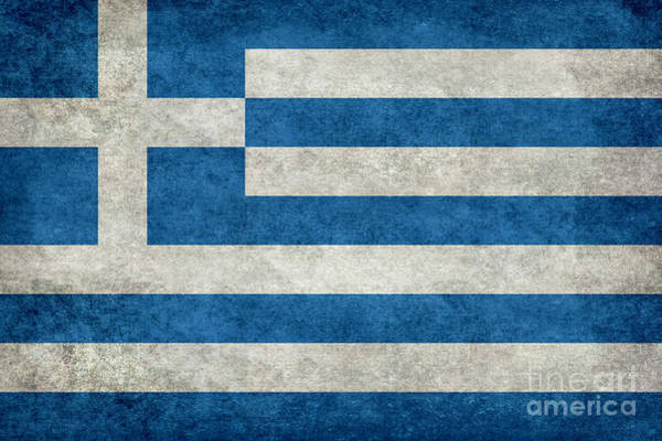 Wall Art - Digital Art - Flag Of Greece Stone Textured  by Bruce Stanfield