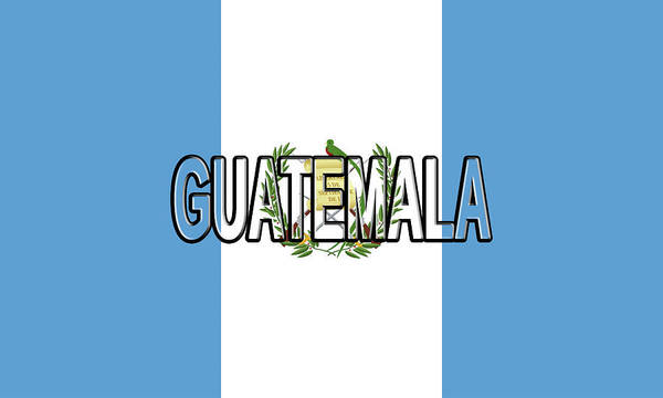 Flag Of Guatemala Digital Art - Flag Of Guatemala Word by Roy Pedersen