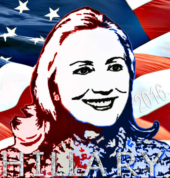 Hillary Clinton Photograph - Flag Of Hillary by Jost Houk
