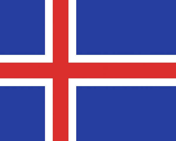 Icelandic Digital Art - Flag Of Iceland by Roy Pedersen