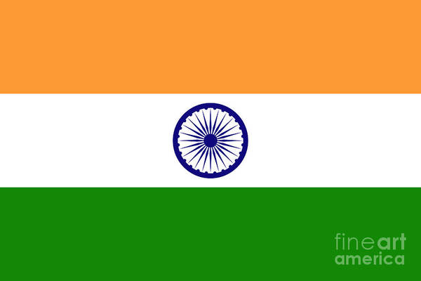 Wall Art - Digital Art - Flag Of India Authentic Version by Bruce Stanfield