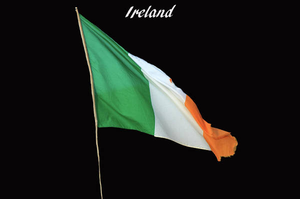Gaelic Photograph - Flag Of Ireland by Aidan Moran