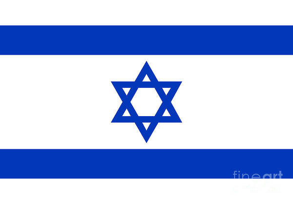 Wall Art - Digital Art - Flag Of Israel Authentic Version by Bruce Stanfield