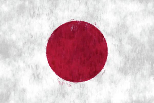 Wall Art - Digital Art - Flag Of Japan by World Art Prints And Designs