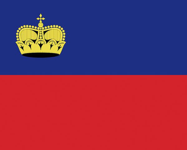 Liechtenstein Digital Art - Flag Of Liechtenstein by Roy Pedersen