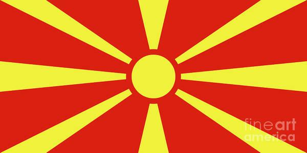 Macedonia Digital Art - Flag Of Macedonia by Bruce Stanfield