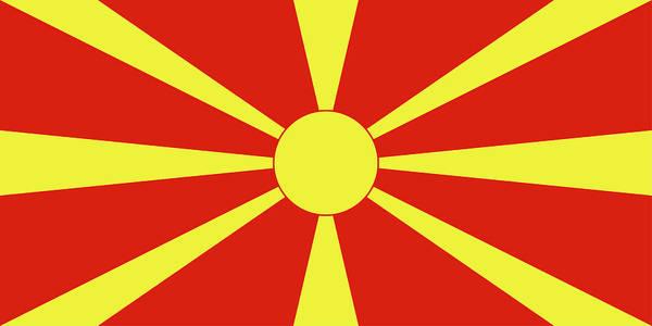 Macedonia Digital Art - Flag Of Macedonia by Roy Pedersen