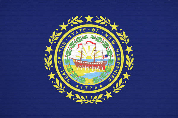 Granite State Digital Art - Flag Of New Hampshire Wall by Roy Pedersen