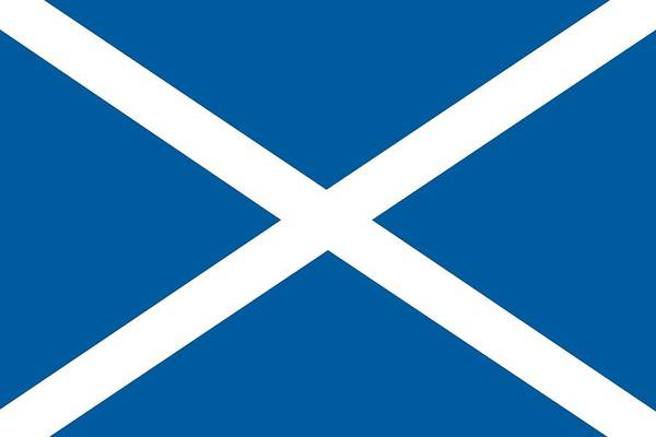 Painting - Flag Of Scotland by Unknown