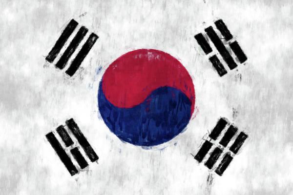 Wall Art - Digital Art - Flag Of South Korea by World Art Prints And Designs