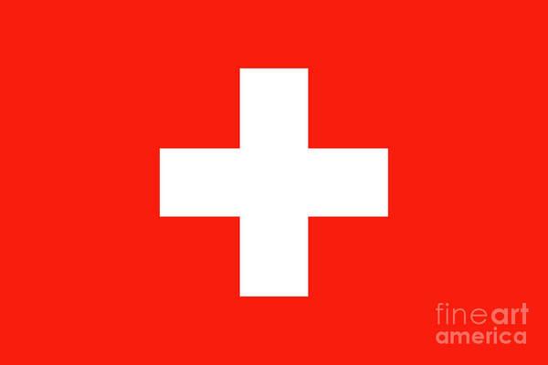 Wall Art - Digital Art - Flag Of Switzerland by Bruce Stanfield