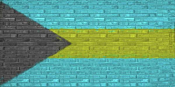 Bahamas Digital Art - Flag Of The Bahamas Wall by Roy Pedersen