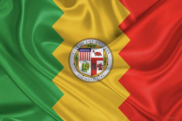 Digital Art - Flag Of The City Of Los Angeles by Serge Averbukh