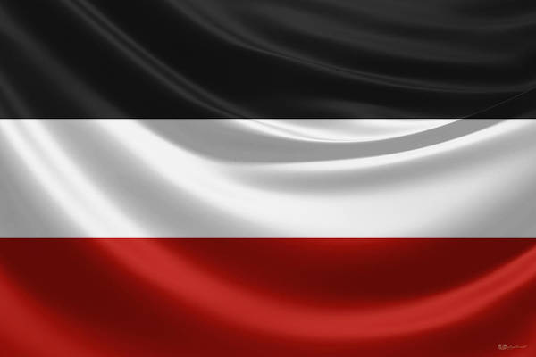 Digital Art - Flag Of The German Empire 1888-1918  by Serge Averbukh