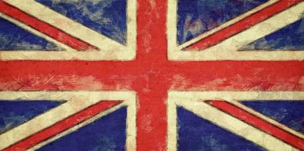 Digital Art - Flag Of The United Kingdom by Michelle Calkins