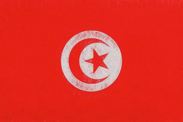 Tunisia Digital Art - Flag Of Tunisia Grunge by Roy Pedersen