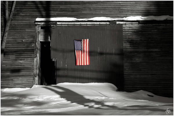 Photograph - Flag On A Wentworth Barn  by Wayne King