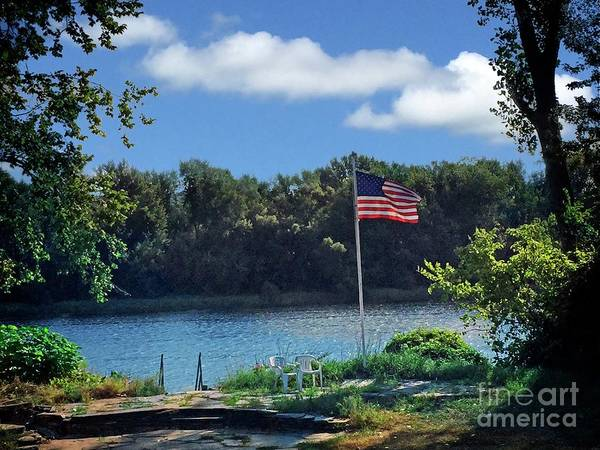 Photograph - Flag On High by Dee Flouton