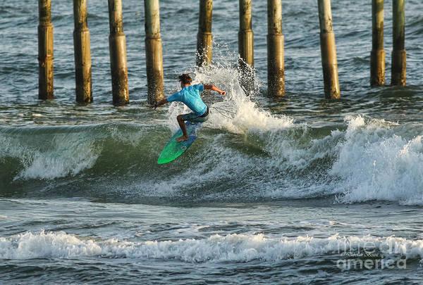 Photograph - Flagler Beach Surf Day by Deborah Benoit