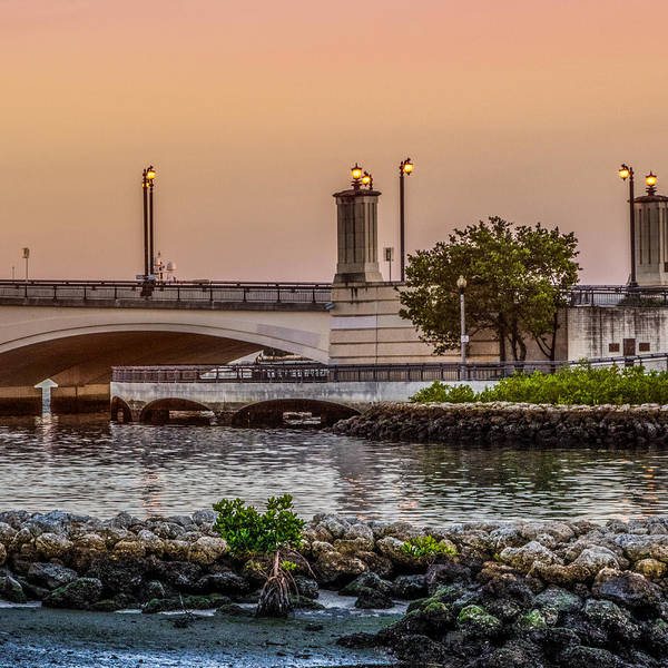 Photograph - Flagler Bridge In The Evening Iv by Debra and Dave Vanderlaan